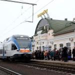 Электропоезд на станции Бобруйск