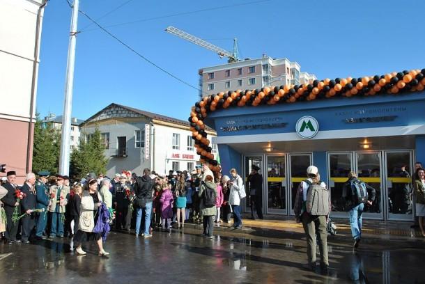 Казанский метрополитен станция Авиастроительная