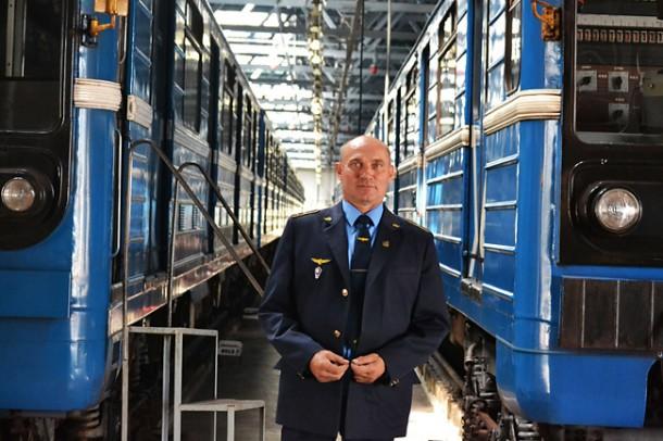 Иван Овсяник в депо Могилёвское