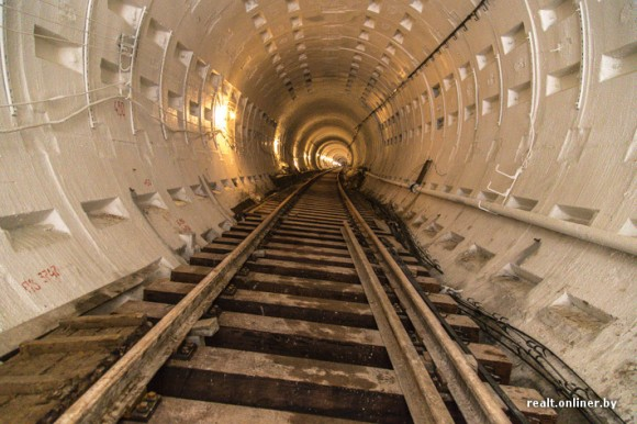 Строящейся тоннель минского метро