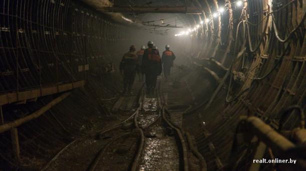 в тоннеле строящегося метро