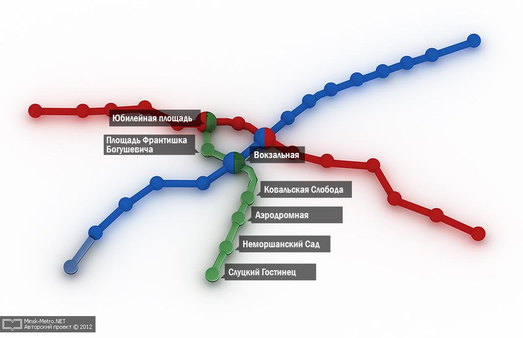 Новая схема минского метро