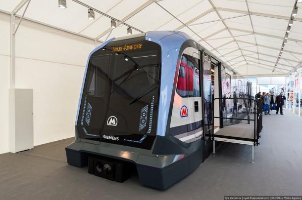 Новый вагон метро для Москвы от компании Siemens