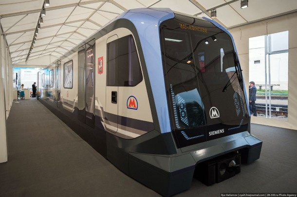 Вагон московского метро Siemens