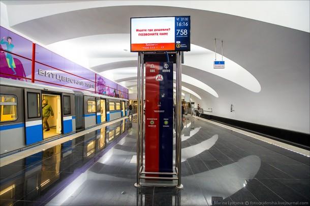 информационный стенд на станции Битцевский парк