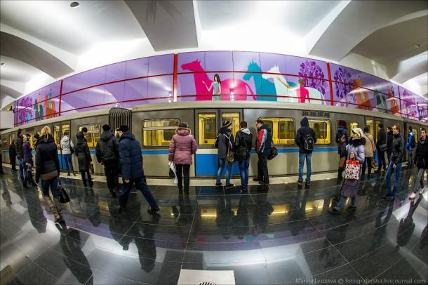 Метропоезд Русич на станции Битцевский парк