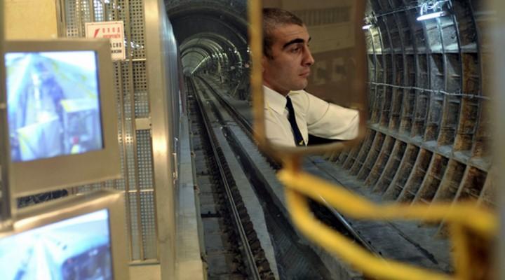 Монитор машиниста московского метро