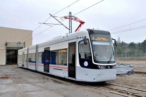 новый трамвай для Москвы производства PESA