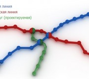 Схема линий минского метро