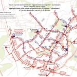 Схема общественного транспорта после открытия станции метро Малиновка