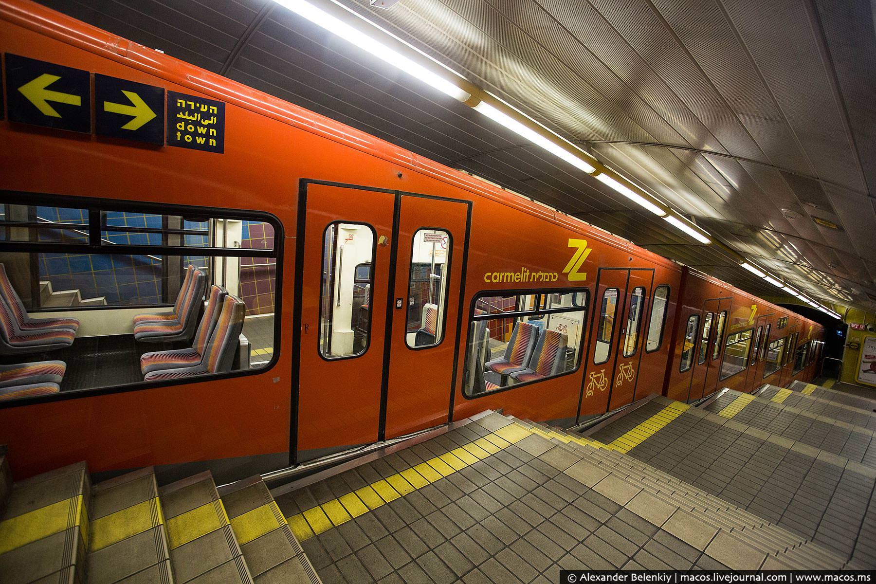 поезд метро Хайфы