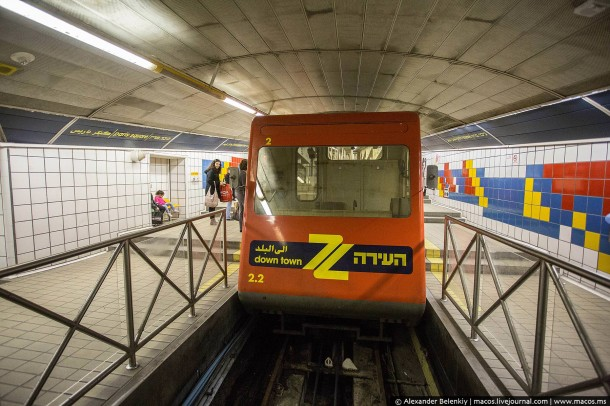 поезд метро Хайфа