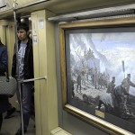 Пуск фирменного поезда Акварель с новой экспозицией Летописцы ратной славы