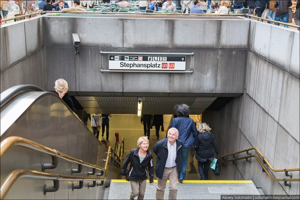 вход на станцию венского метро