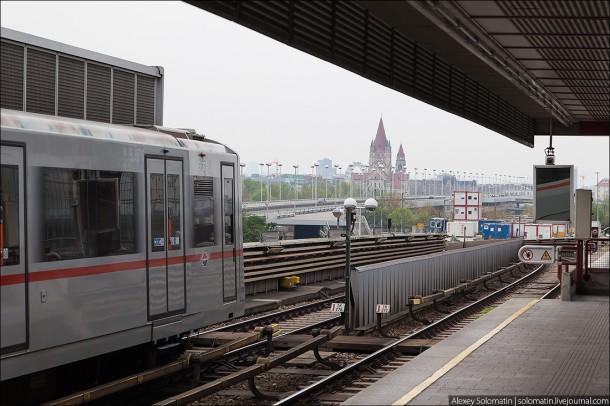 Наземная станция венского метро