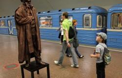 Александр Пушкин в Новосибирском метрополитене