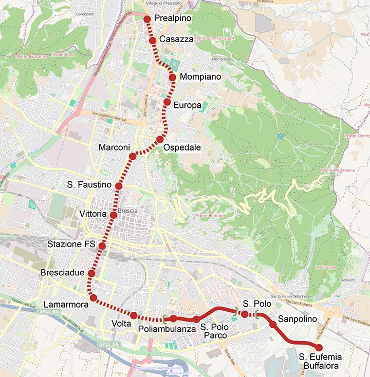 Схема линий метрополитена
