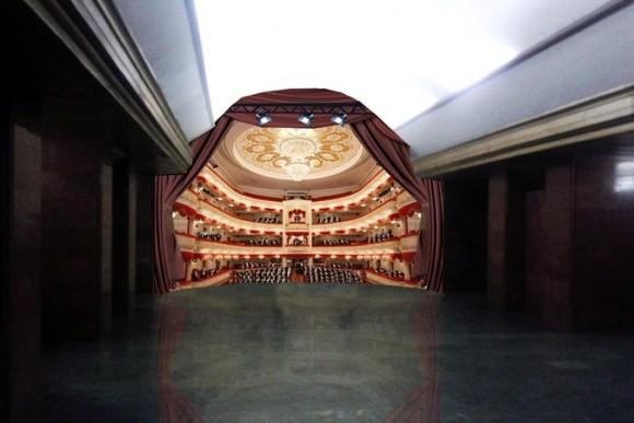 3D рисунок на станции Театральная киевского метро